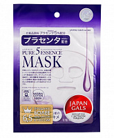 Маска для лица с плацентой 1 шт Japan Gals 12274 Pure5 Essence