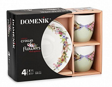 Чайный набор CROWN OF FLOWERS 250мл 4 предмета Domenik DM95940